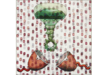 2D panel surreal funnels pod jellyfish collage (c) 2010 robert aaron wiley